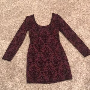 Charlotte Russe Maroon and Black Dress